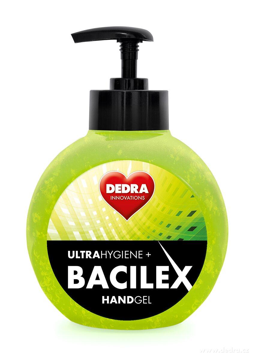 Čistiaci gél na ruky s vysokým obsahom alkoholu HANDGEL BACILEX ultraHYGIENE+